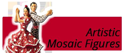 souvenir artistic mosaic figures