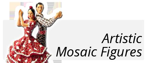 Artistic mosaic figures souvernir